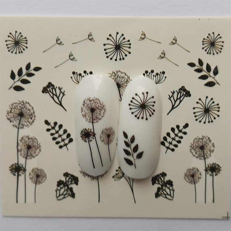 1pcs Water Decals Slider Summer Flower Flora Watermark Nail Sticker Decoration Wraps Manicure B45/B46/B47/B48