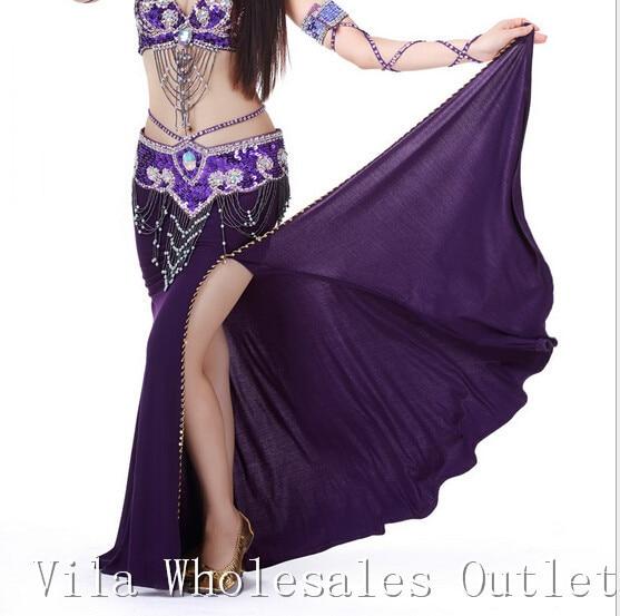 Belly dance skirt dancing costume indian dance skirt clothes bellydance skirt 1pc skirt 10 color 701#
