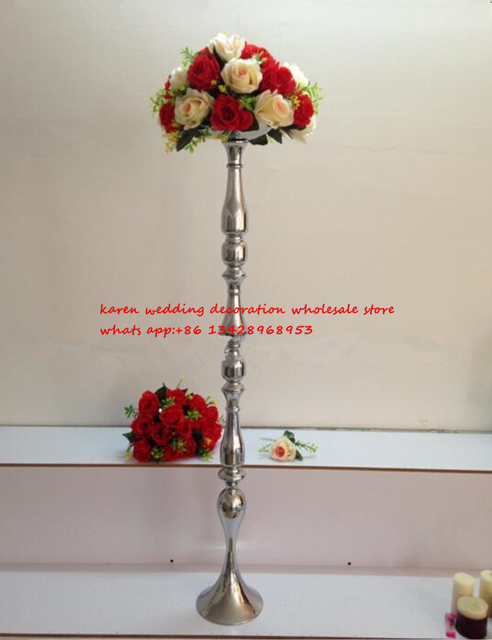 120cm Tall Bamboo Flower Vase Stand Wedding Decoration Home Decoration  Wedding Road Lead Pillar For Wedding