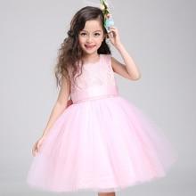 Летом детская одежда девочек принцесса платье пачка платье детей девушки розовое платье подарок на день рождения