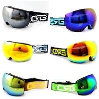 Hot Sale 6 Styles New CSG Brand Ski Goggles Double UV400 Anti Fog Big Ski Mask