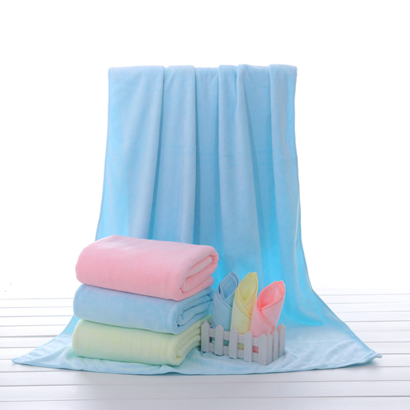 Soft Baby Bath Towels Kids Microfiber Fabric Solid Towels Square Newborn Towels Baby Blanket Winter Breathable Boy Girl Blanket