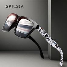 GRFISIA Classic Polarized Solglasögon Män Körning Vandring Sun Glasögon Män Märke Design Graffiti Ramar Gafas Male Shades G511