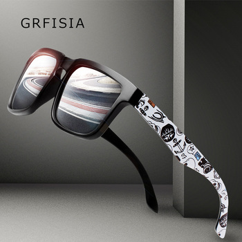 Grfisia 패션 선글라스 남자 편광 된 hd 운전 광장 태양 안경 편광 고글 초경량 프레임 남성 gafas sol g511