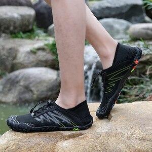 Image 2 - 36 46 יוניסקס קיץ מים נעלי גברים חמש אצבע חיצוני במעלה הזרם שכשוך נטו טיולים חמישה טופר טיולים קל משקל לנשימה נעליים