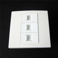 Multimedia White Floor Socket 3 X RJ45 Network Jack Wall Panel Socket Type Connector Home Used