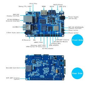 Image 5 - Allwinner A83T muz Pi M3 tek kurulu ile 8G EMMC
