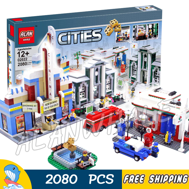 2080pcs City Town Plan 50th Anniversary Edition Collection 02022 Model Building Blocks Children Toys Bricks Compatible With lego waz compatible legoe city lepin 2017 02022 1080pcs city 50th anniversary town figure building blocks bricks toys for children