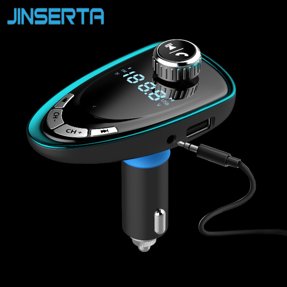 JINSERTA Bluetooth Auto Mp3-player FM Transmitter Modulator Radio Adapter Usb-ladegerät AUX TF USB disk Reader