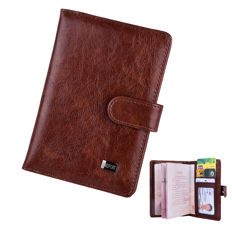 Hasp Leather Passport Cover ID Card Holder Case Wallet For Business Credit Cards Passport Holder Tarjetero Porte Carte Bancaire
