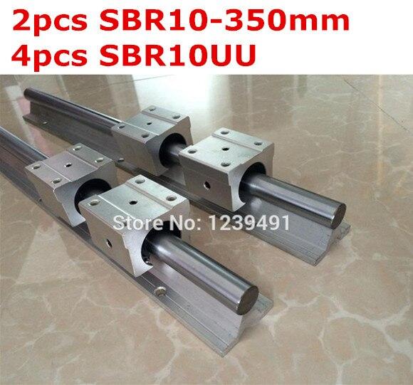 2pcs SBR10  -  350mm linear guide + 4pcs SBR10UU block жидкость sbr oreshek 60мл 0мг