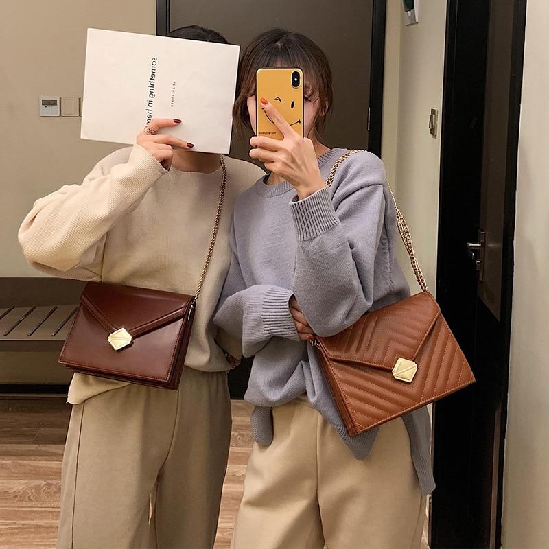 Retro Fashion Large Handbag 2019 New High Quality PU Leather Women's Designer Luxury Handbag Lock Chain Shoulder Messenger Bags