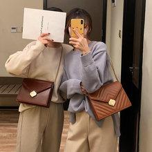 Grand sac à main rétro tendance en cuir PU pour femmes, bonne qualité, sac de styliste de luxe, serrure chaîne, sacs Messenger à bandoulière, nouvelle collection 2021