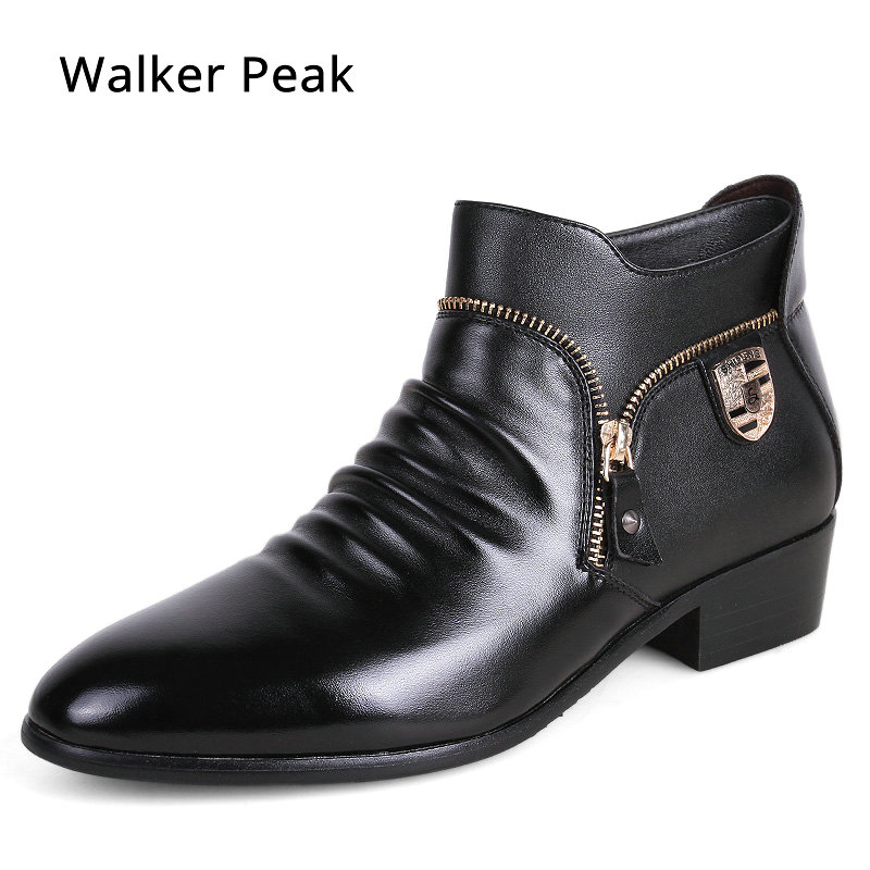 Brand Leather Mens Dress Sko, Ekte Leather Brogues Oxfords Sko For Menn Designer Luksus Menn Casual Flats Sko Walker Peak