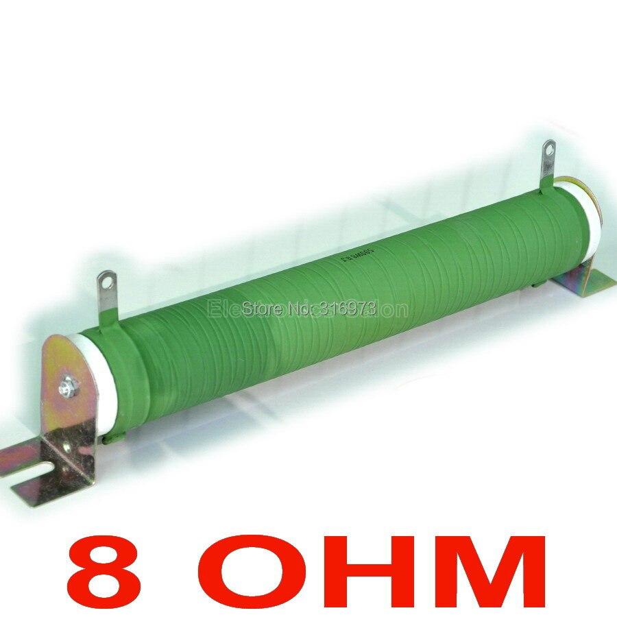 8 ohms 500 Watts résistance de Tube en céramique enduit de fil Non inductif, charge factice d'amplificateur Audio, 500 W.