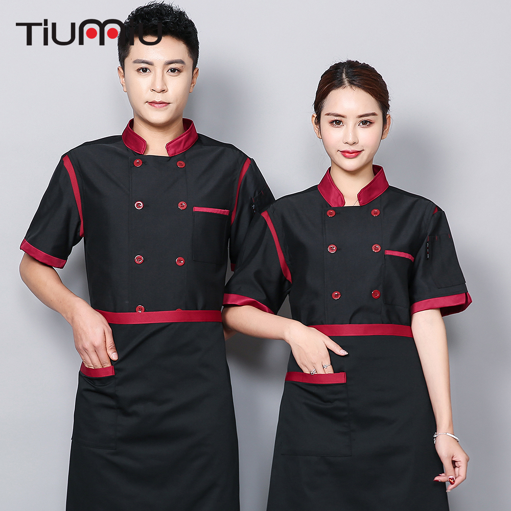 Chef Cook Uniform Unisex Summer Breathable Mesh Kitchen Restaurant Work Clothes BBQ Cafe Cake Chef Barbershop Work Overalls