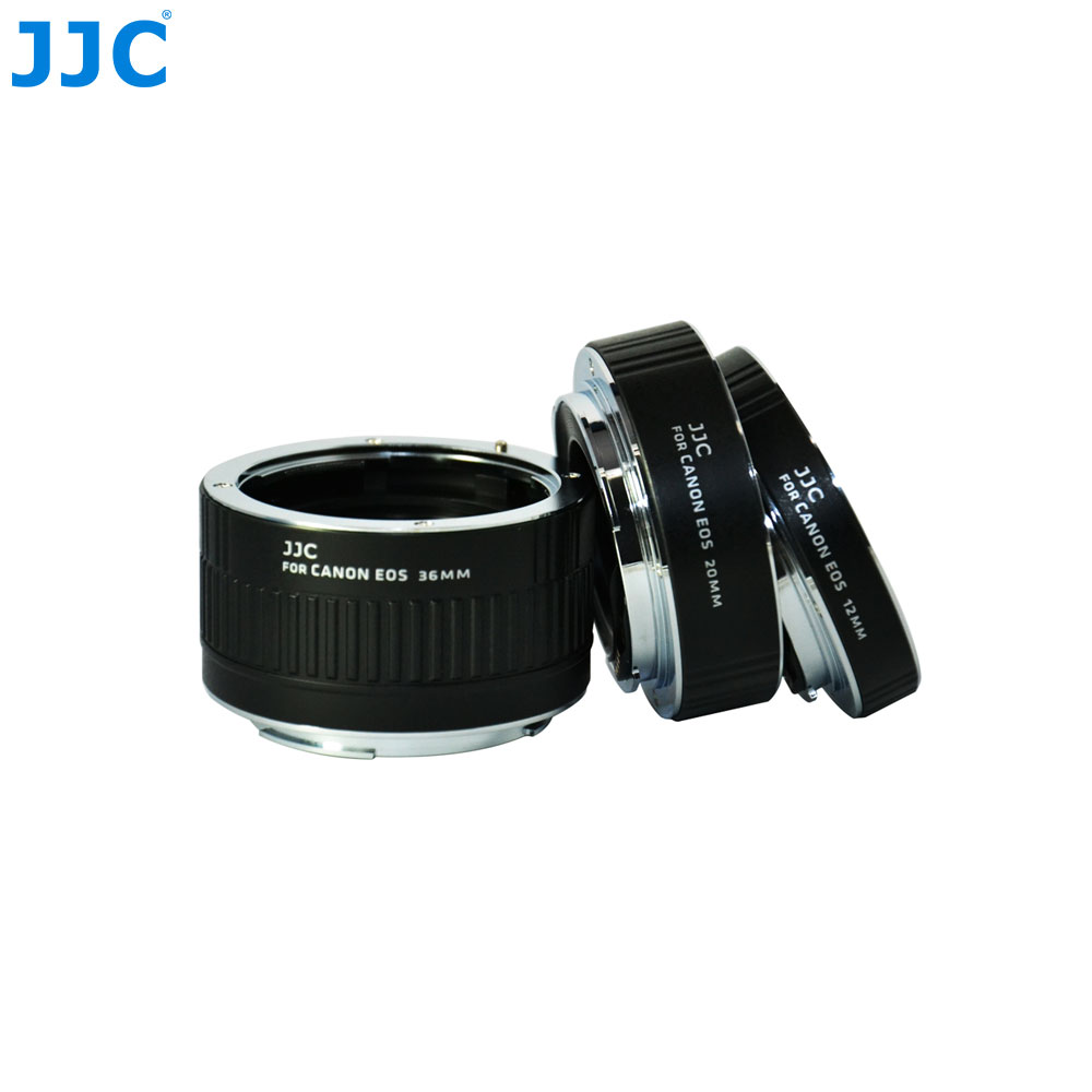JJC Automatic Extension Lens Tube 12mm 20mm 36mm Sets Adapter Ring for CANON EOS Body  EF EF-S Mount Camera Lenses kernel metal af confirm auto focus macro extension tube ring suit for canon eos ef ef s camera