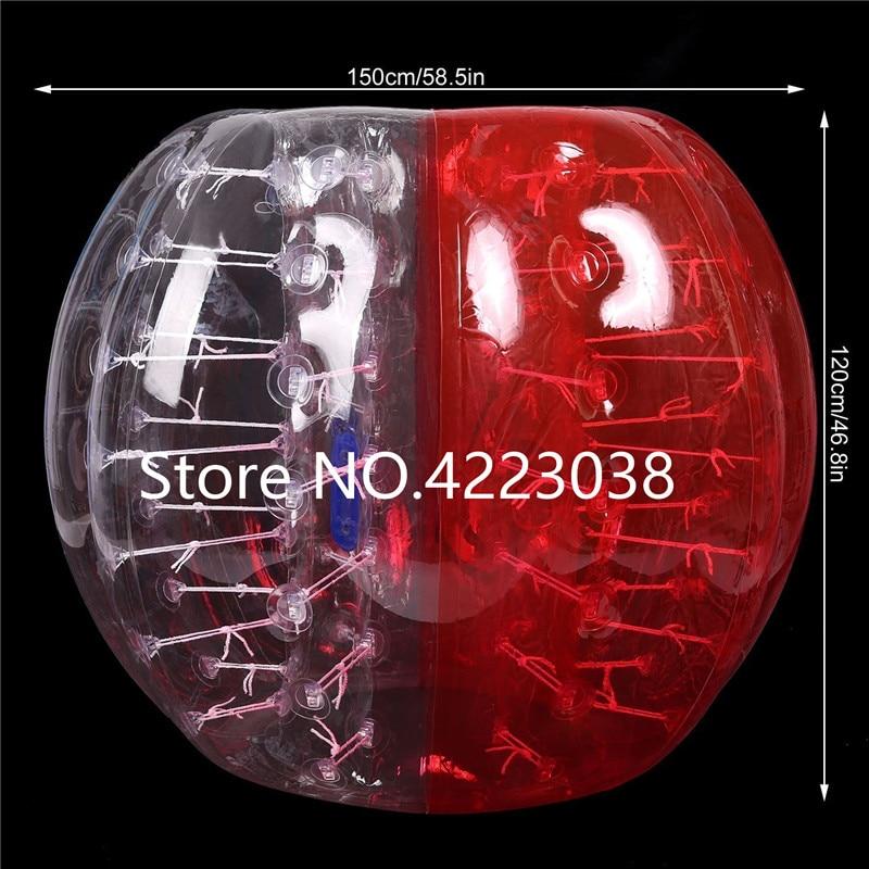 Envío Gratis, Bola de fútbol de burbuja humana de 1,5 m, juguetes para deportes al aire libre, bola para hámster, Bola de estrés, traje de fútbol de burbujas - 2