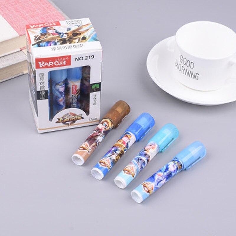 1PCS Erasable Pen Novelty Eraser Cute Stationery Prizes For Kids Rabbit Gel Pen Erasers Cute Gifts Eraser Kawaii School Supplies
