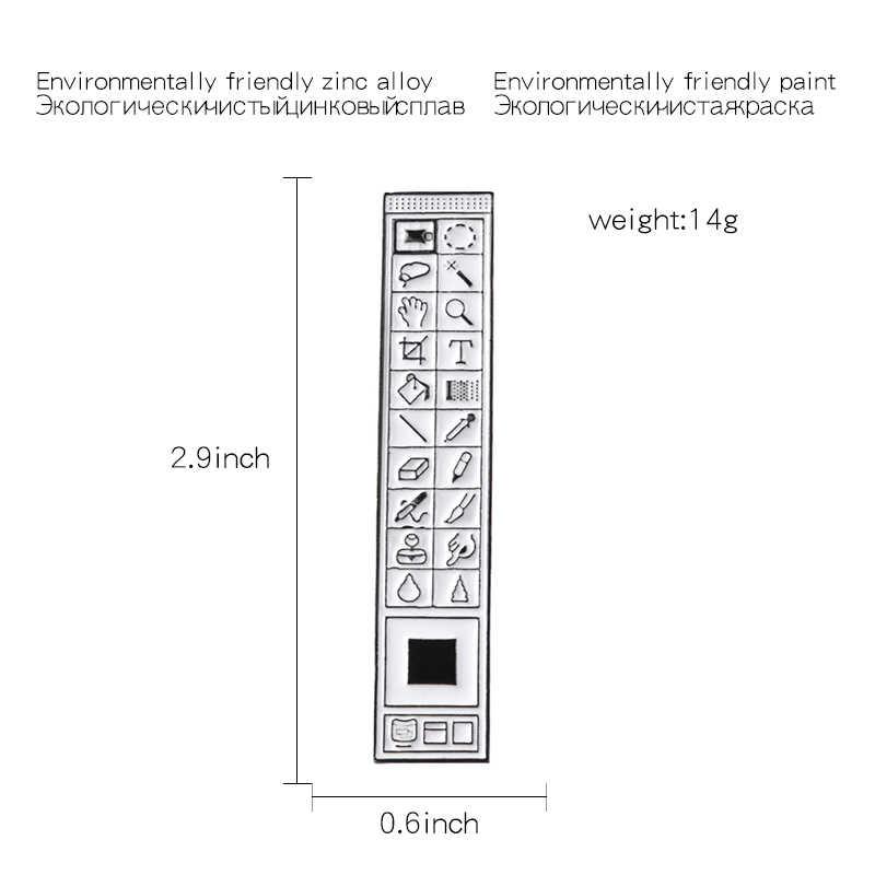คลาสสิก Pixel เคอร์เซอร์ PS AI Photoshop แถบเครื่องมือนาฬิกาทรายคอมพิวเตอร์หน้าต่างไอคอนเมาส์ตัวชี้มือ Arrow เคลือบเข็มกลัดเข็มกลัด