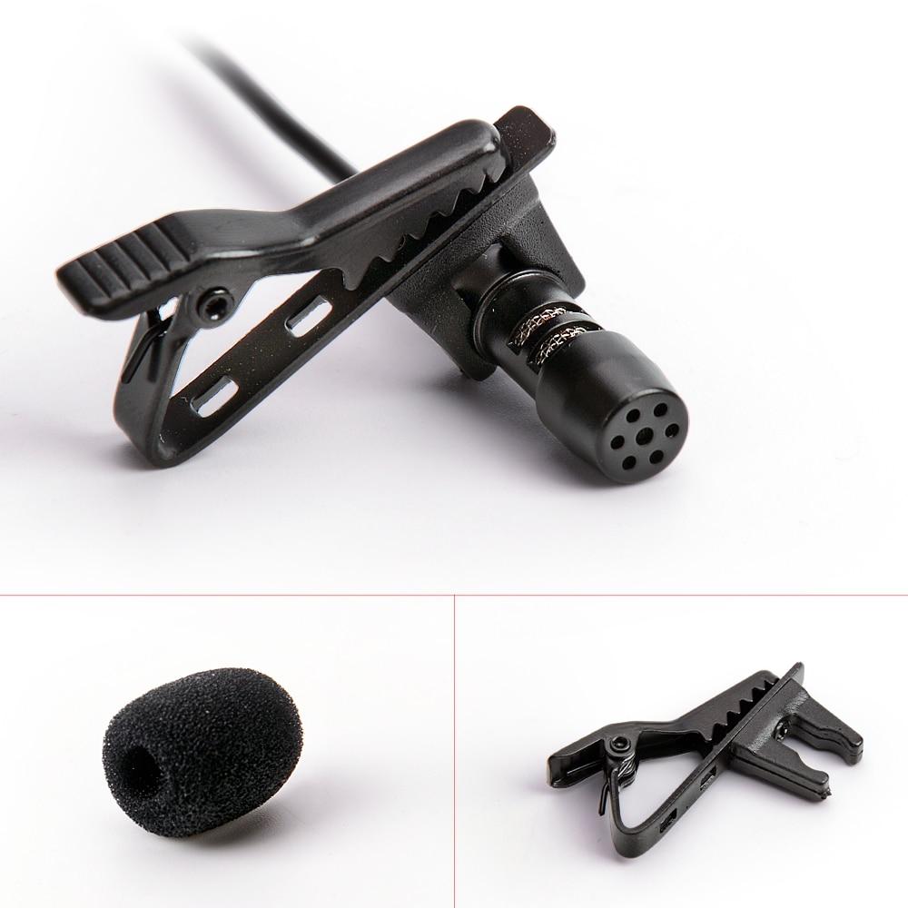 Profissional lapela lapela clipe cardióide microfone condensador
