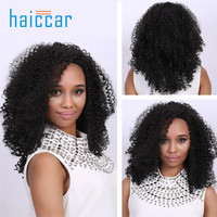 Women Long Black Brown FrontCurly Hairstyle Synthetic Hair Wigs For Beauty Black Wig July 30