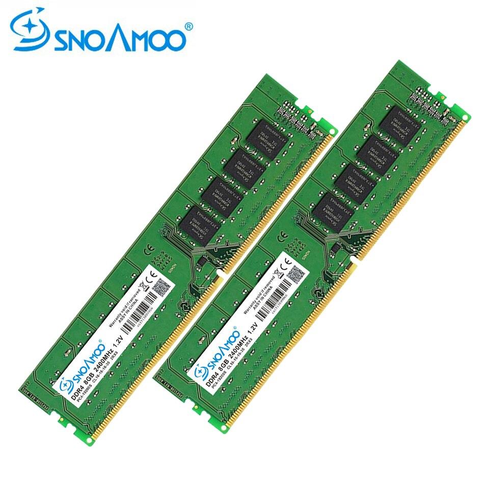 SNOAMOO De Bureau PC Béliers DDR4 8 gb 2400 mhz CL16 CL15 PC4-19200S 1.2 v 2Rx8 288-Pin DIMM BRAS pour la Mémoire de Bureau Bâton Compatible PC