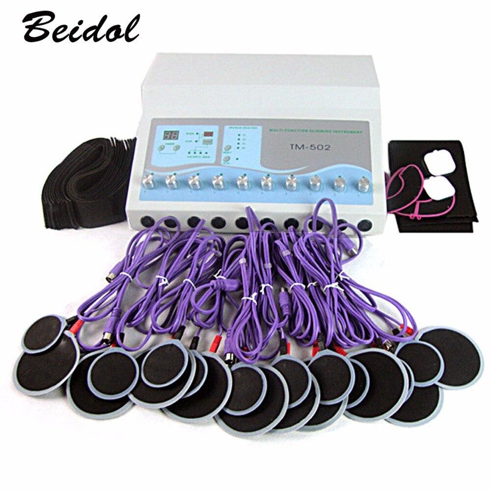 TM-502 électrique stimulation musculaire machines électro graisse perte machine avec 20 pcs plaquettes DHL livraison gratuite de Toilette Kits