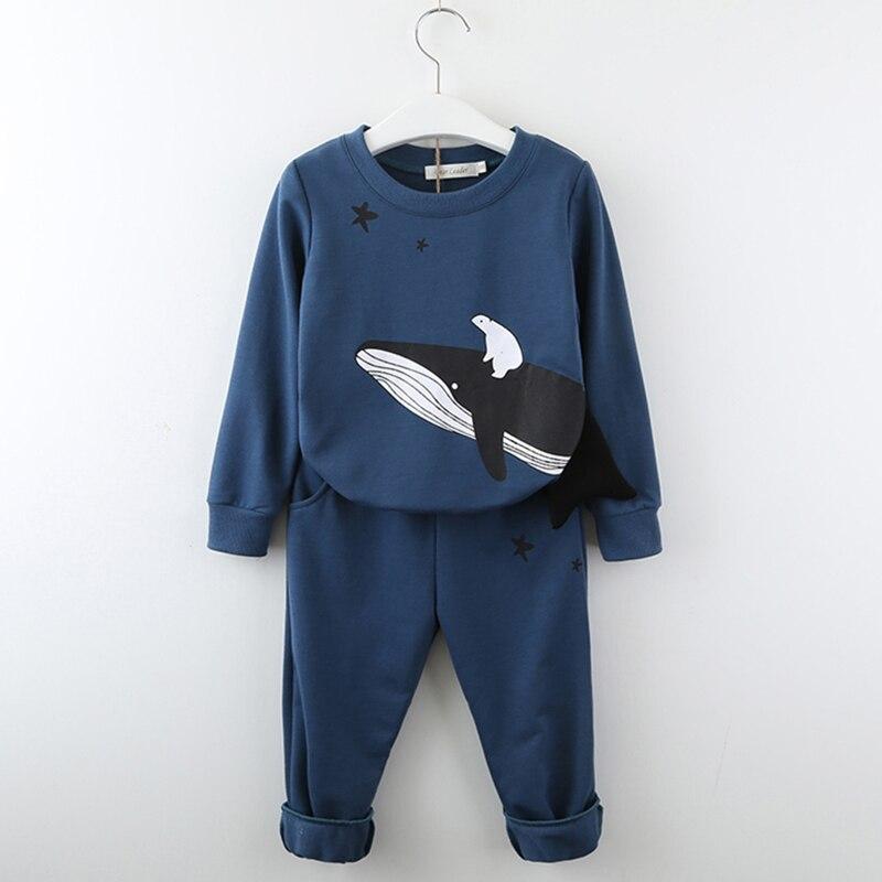 Girls Clothing T-Shirt Pant Suits Animals Toddler Kids Cartoon Boy Print Brand-New 2pcs