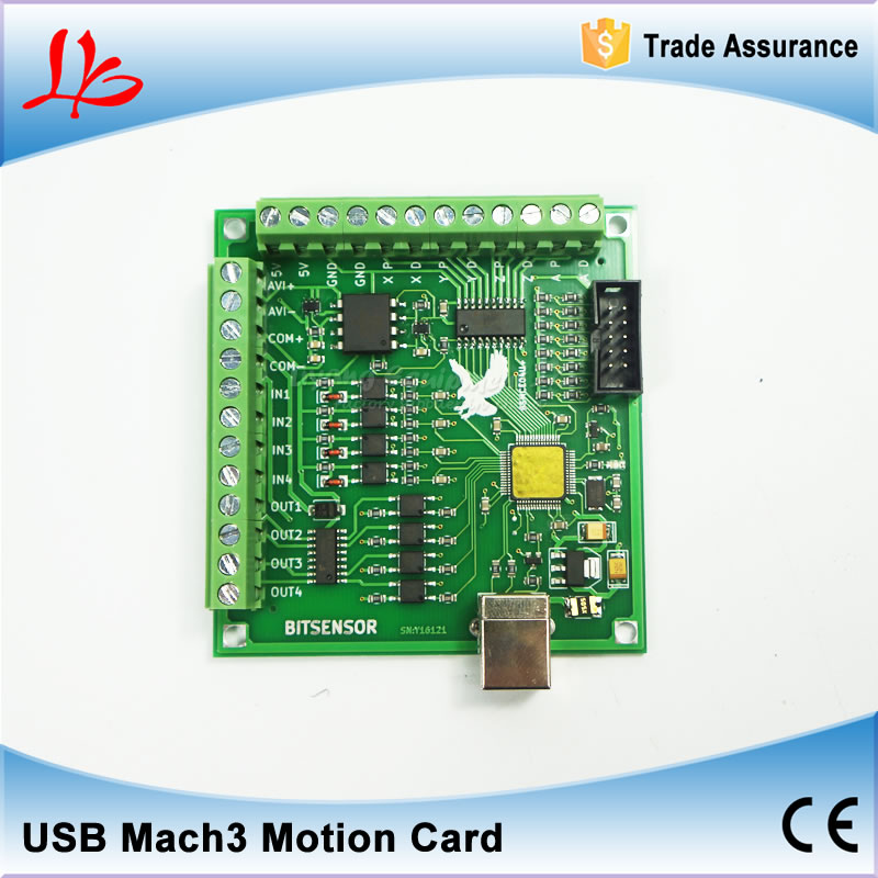 ФОТО CNC MACH3 USB Motion Controller card 4 Axis 100KHz for cnc router