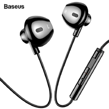 Baseus Wired Earphone Stereo In-ear Headset With Mic Bass Sound 3.5mm Jack Earphone Earbuds Earpiece For iPhone Samsung Xiaomi paper art кролик