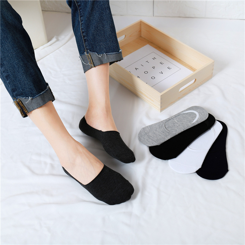 Able Boat Socks Cotton High Quality Casual Non-slip Ankle Invisible Low Cut Breathable Candy Color 1pair Women Popular Fashion Sock Slippers