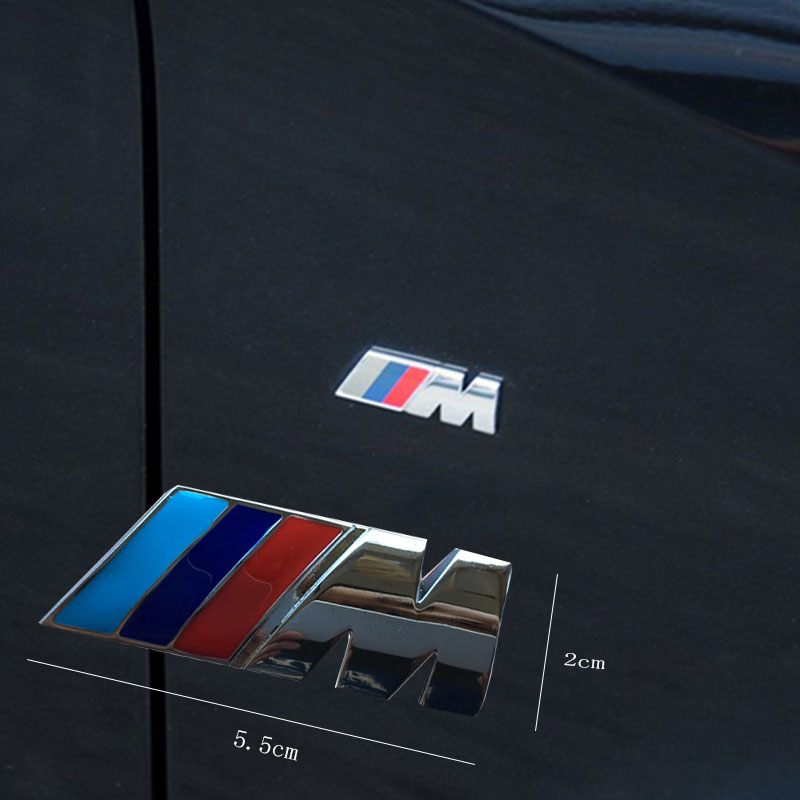 2pcs original quality car style Motorsport M performance Car side body sticker M Emblem for BMW E36 E39 E46 E90 E60 E30 E70 F30