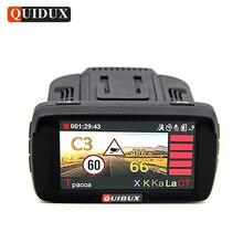 QUIDUX России Видеорегистраторы для автомобилей Камера gps Антирадары 3 в 1 Full HD 1080 P видео Регистраторы LDWS анти Speedcam фиксированной и скорость потока