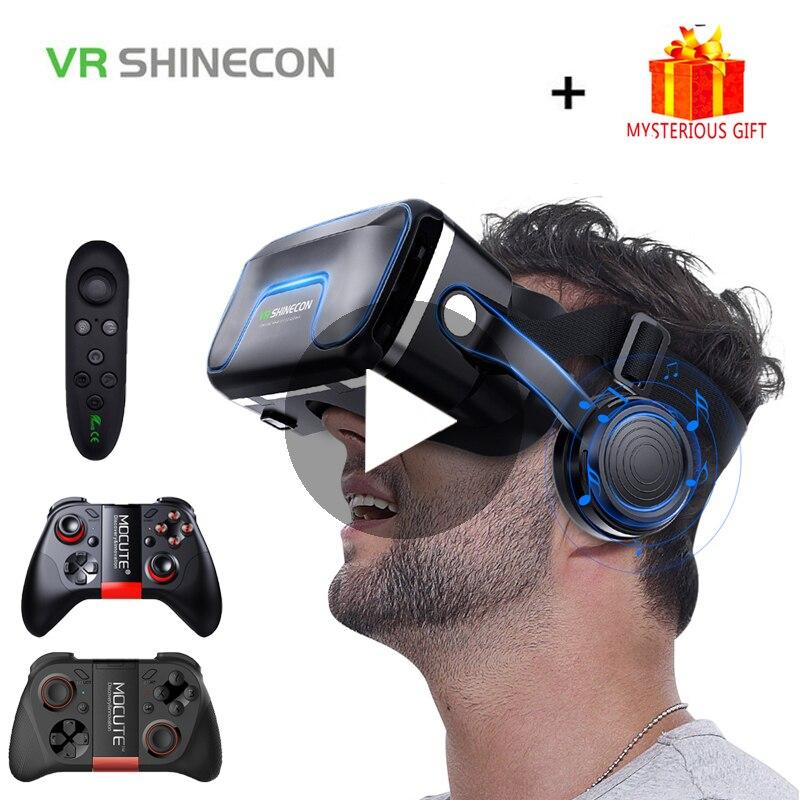 VR Shinecon 10.0 Casque 3D lunettes réalité virtuelle Casque pour Smartphone Smart Phone lunettes Google carton Gaming 3 D Lunette