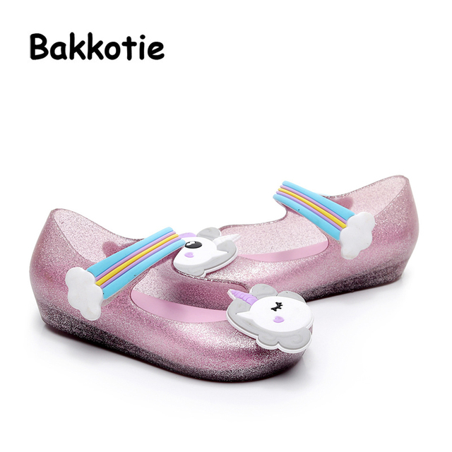 Bakkotie 2018 New Fashion Summer Cloud Baby Girls Soft Sandals Pink Cute  Rainbow Shoes Toddler Boy Brand Black Little Kid Heel 45149a6017ab