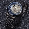 Men Watch Top Brand Luxury Skeleton Wristwatch Stainless Steel Strap Automatic Mechanical Watches Business Dress Relojes