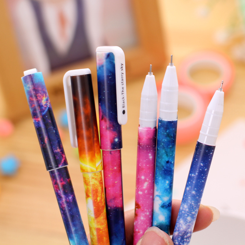 Free Shipping 6 pcs/lot Cute Kawaii Plastic Gel Pen Creative Space Ink Pens Caneta For Kids Writing Gift Korean Stationery 2087 kawaii cartoon cat erasable pen cute dog gel pens for kids writing gift office school supplies free shipping 3931