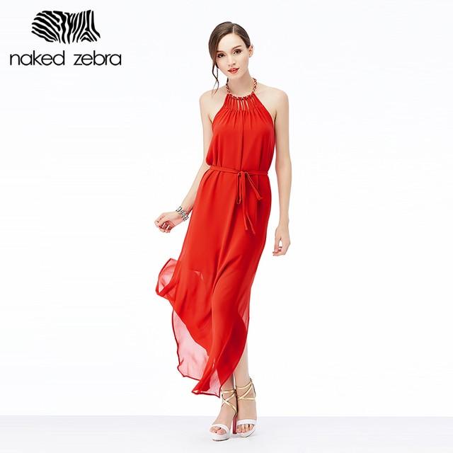 NAKED ZEBRA 2016 Summer Cute Halter Dress Creative Design