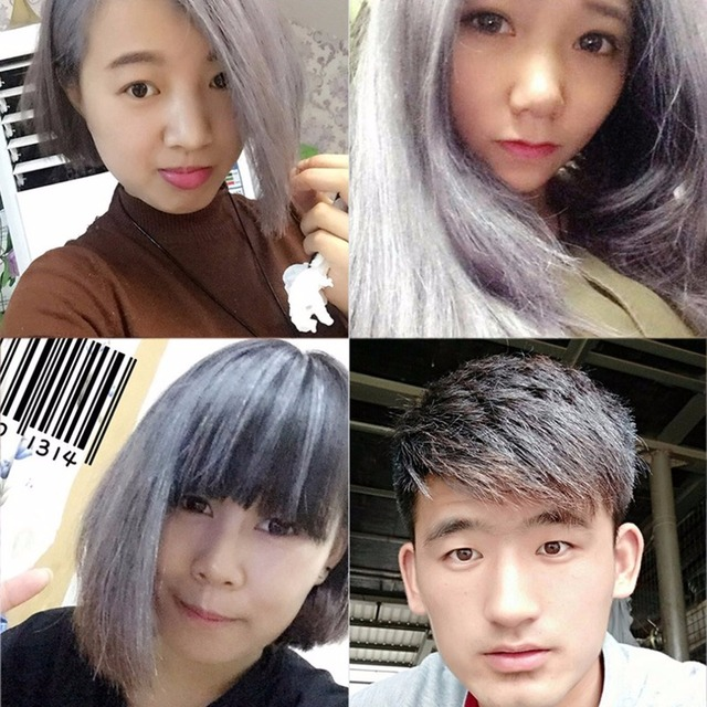 7 Colorful Fashion Hair Coloring Cream Styling One-Time DIY Color Hair Wax Disposable Temporary Hair Dye Mud Grandma Gray Purple 3