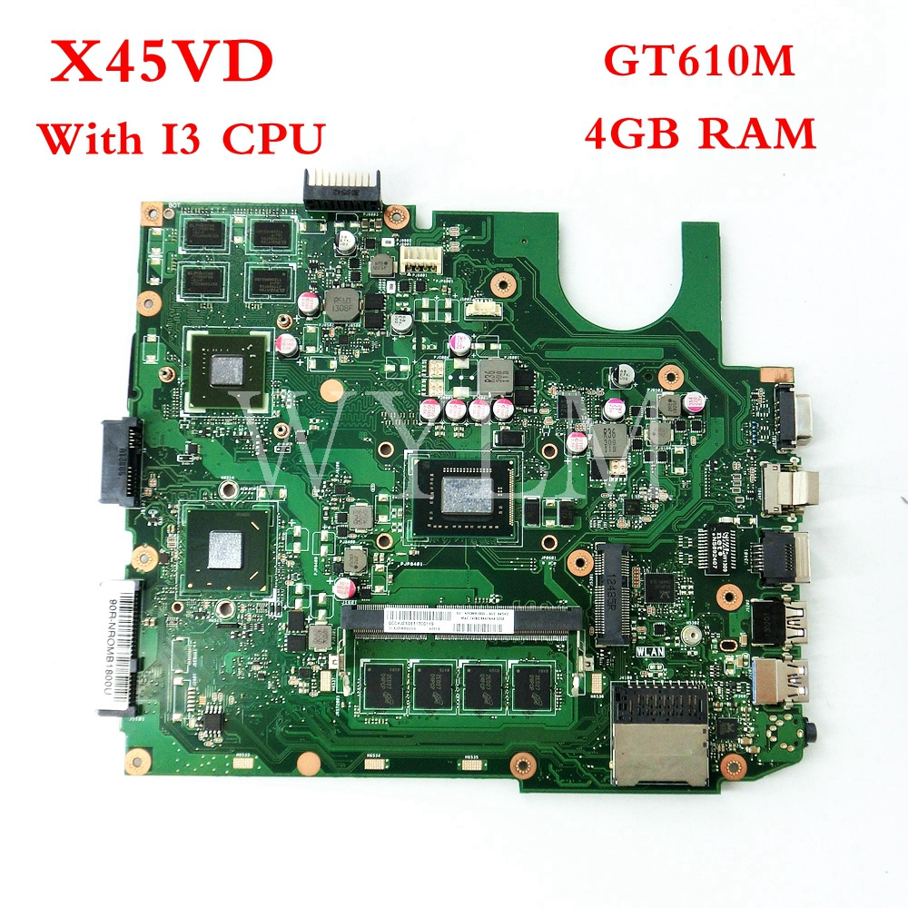 все цены на X45VD Onboard I3 CPU GT610M 1GB With 2GB RAM mainboard For ASUS X45V X45VD 60-NROMB1800-A05 Laptop motherboard free shipping онлайн