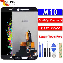 "100% Tested New LCD For HTC 10 M10 LCD Display Touch Screen Digitizer Assembly With Frame Replacement For 5.2"" HTC M10 LCD"