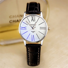 YAZOLE fashion brand lovers Watch Leather Wristwatches round