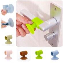 1pc Door Handle Silencer Crash Pad Wall Protectors Silicone Door Stopper Anti Collision Stop Door Protecting Pad Door Stops Mats цена 2017