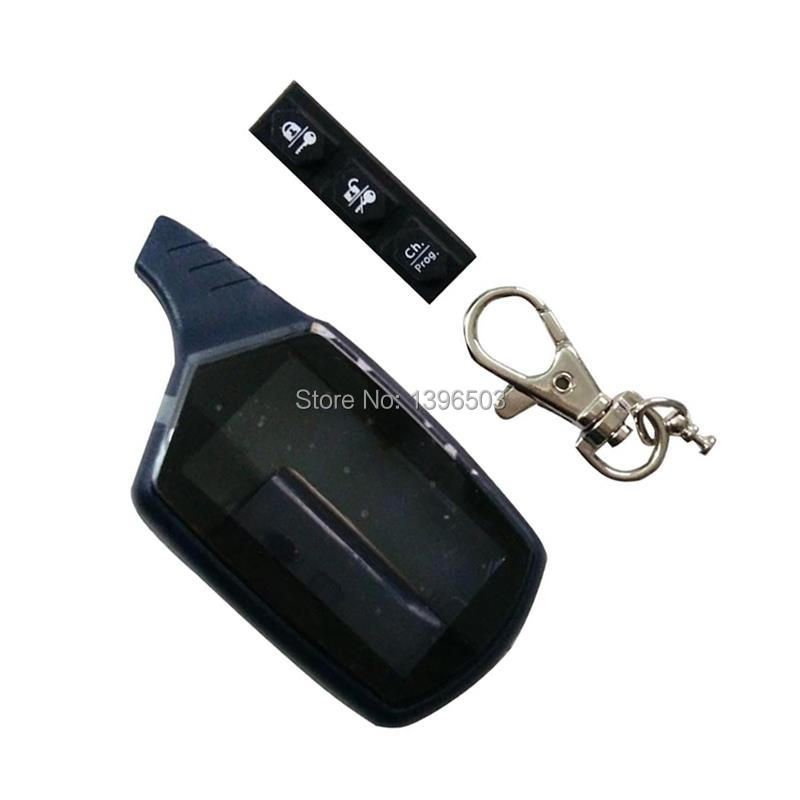 Wholesale B9 Case Keychain For Russian Version 2 Way LCD Remote Control Key Fob Chain Twage Starline B9 B6 A91 A61