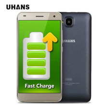 UHANS H5000 4G LTE 4500mAh Battery 5.0″ HD 1280*720 Smartphone Android 6.0 MTK6737 Quad Core Cellphone 3GB+32GB 8MP Mobile Phone