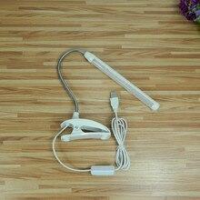 Fashion 40cm Modern LED Clip Lamp Flexible USB Tube Table Lamp Student Study Reading Light Office Desk Lamp lampara de mesa led