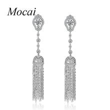 Luxury Long Tassel Earrings Fashion Party Jewelry Brand Exaggerated Vintage Shiny Full Zircon Earring Bijoux Femme zk33