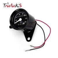 Triclicks Universal Black Motorrad Zweikilometerzähler anzeige Meter Hintergrundbeleuchtung 12 V Digitale Messgeräte Instrumente der Neuen