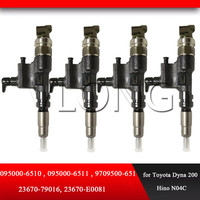 GENUINE DIESEL FUEL INJECTOR Assembly 095000 6511 23670 79016 23670 E0081 for Toyota Dyna 200 Hino N04C 095000 6510|Fuel Injector|   -
